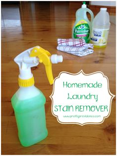 Tried and Tested Homemade Laundry Spot Cleaner {by www.prettyprovidence.com} Only takes 3 ingredients and works on stains like magic!