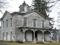 This old house on Seneca Lake in the Finger Lake is abandoned and empty also said to be haunted