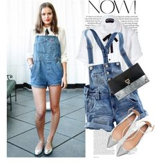 """Street Style - The overall shorts"" by lidia-solymosi on Polyvore"