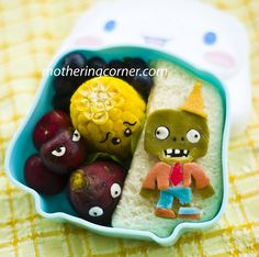 Plants vs Zombie Bento….OMG!  Maybe I could get my son to actually eat a healthier lunch!