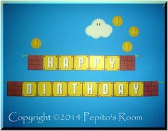PrintINK Super Mario Bros. A La Carte Banner  by PepitosRoom