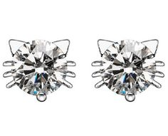Austria Crystal Cat Stud Earrings: These cute, austria crystal cat stud earrings are fun to wear and has a matching necklace that you can buy too!  They are perfect to wear with your favorite outfit and you can also give them as a gift so make sure you order an extra pair today!