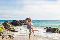 Malibu beach engagement (Nicole Goddard Photography)