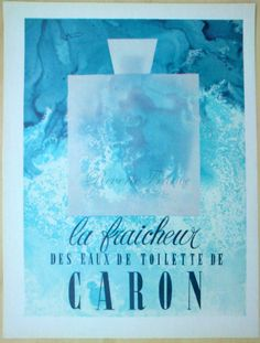Original Vintage French Ad    Caron le fraicheur by reveriefrance, $14.00