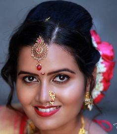 Marathi Nath, Beautiful Girl In India, Glamorous Makeup, Wedding Beauty, Girl Face, Glamour, Drop Earrings, Fashion, Moda