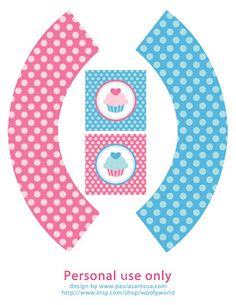 On pinterest spa party water bottle labels and cupcake wrappers