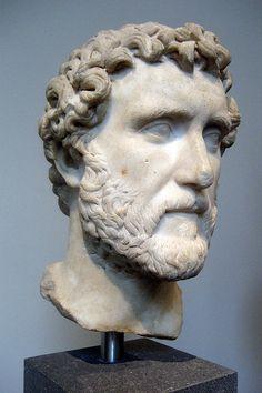 NYC - Metropolitan Museum of Art: Bust of Emperor Antoninus Pius   Roman, Antonine period, A.D. 138-161