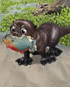 Proud Little Sancho with his first fish by Psithyrus.deviantart.com on @deviantART