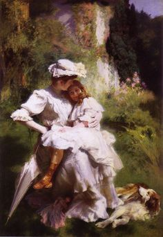 Emile Friant (1863-1932) Tendresse Maternelle Oil on canvas  Public collection Added: 2006-01-11 00:00:00