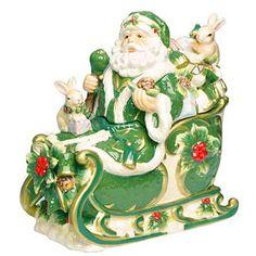 Holly Santa Cookie Jar
