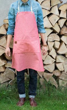 Apron made with beautiful chambray by Birchandbike on Etsy