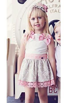 Vestido Dolce Petit de niña Primavera Verano blanco