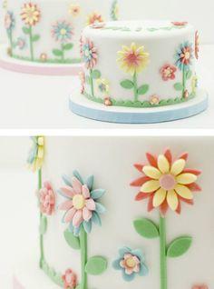 Baby Cakes, Girl Cakes, Cupcake Cakes, Pretty Cakes, Cute Cakes, Beautiful Cakes, Bolo Floral, Floral Cake, Birthday Cake Girls