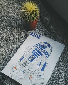 ✏ #r2d2 #drawing #insteadofstudying #adventuresofmycactus #starwars #vscohungary