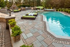 The challenge with this New Jersey backyard was different than most, it had an overabundance of space to work with. www.techo-bloc.com www.faceboo.com/techobloc