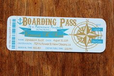 boarding pass boat - Google 搜尋