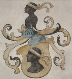 European noble families often had images of the esteemed African Moors of Spain featured on their family crests as seen here.