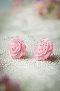 50s English Rose Earstuds Blush Pink