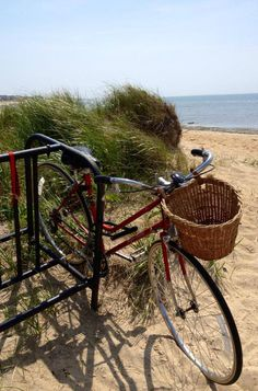 This is my idea of a perfect day. All you need on a Cape Cod beach is what will fit in this basket.