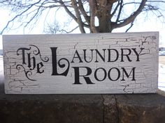 Primitive Home Decor Signs | ... LAUNDRY Room, Hand Painted Primitive Wood Sign, Housewares, Home Decor