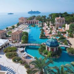 The lagoon of the Monte-Carlo Bay Hotel & Resort in the Principality of Monaco #Luxury #Travel Gateway VIPsAccess.com/...