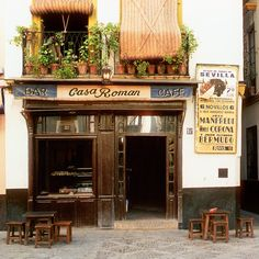 Casa Roman- Seville, Spain photographed by Dennis Barloga Study Spanish, Nerja, Cafe Bistro, Cafe Art, Seville Spain, Andalusia, Andalucia Spain, Tapas Bar, Spain And Portugal