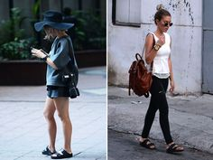 hmmm... Birkenstocks? Not sure if I love or am indifferent toward this trend yet.