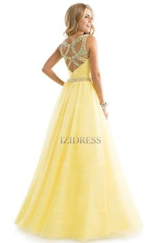 A-Line/Princess V-neck Straps Chiffon Floor-length Prom Dress - IZIDRESSES.com at IZIDRESSES.com