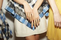 The New Nail Art Trend from Fashion Week - Wes Gordon