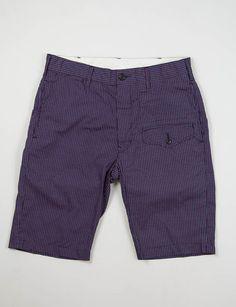 Engineered Garments Navy/White/Red Small Polka Dot Ghurka Short