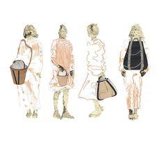 Fashion Sketchbook - fashion illustrations; line up; fashion drawings; fashion portfolio // Sophie Tolhurst