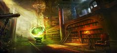 Full HD Wallpaper ancient wizard library chair spell from the category fantasy. 3d Fantasy, Fantasy Places, Fantasy Setting, Fantasy Landscape, Fantasy Artwork, Fantasy World, Dark Fantasy, Fantasy Castle, Fantasy Rooms