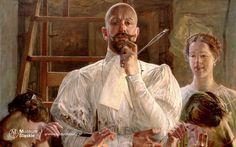 Jacek Malczewski <em>Pożegnanie z pracownią</em> | 1913<br>olej na płótnie, 74,6 × 105 cm, Muzeum Śląskie, Katowice