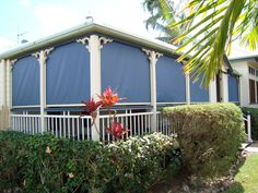 Sunscreen Fabric Roll Up Patio Blinds Lets You See Out While Giving Protection From The Elements And Awnings Need Pinterest