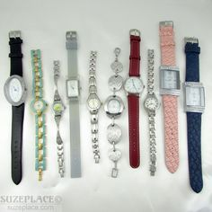 WHOLESALE LOT 10 NEW LADIES WATCHES CLARIE'S MZ BERGER ROMAND & MORE RESELL  #SuzePlace.com
