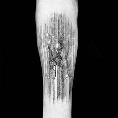 lines tattoo kiss Kiss Tattoos, Tattoo On, Line Work Tattoo, Arm Tattoos, Love Tattoos, Back Tattoo, Body Art Tattoos, Tatoos, Amazing 3d Tattoos