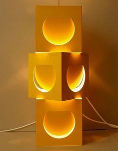 Set of three vintage Shogo Suzuki Stockmann Orno wall lamp light sconce metal rare yellow Finnish Japanese design Scandinavian mid century Scandinavian Lighting, Scandinavian Design, Pop Art Colors, Sides For Ribs, Indirect Lighting, Lamp Cord, Light Effect, The Middle, Lamp Design