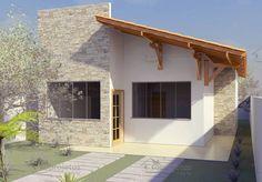 Planta de Casa - Térreo com 2 quartos para 10m de frente