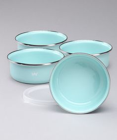 loving this enameled dish set