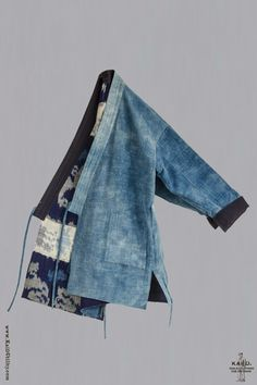 Kimono Fashion, Denim Fashion, Japanese Farmer, Japanese Coat, Sewing Clothes, Diy Clothes, Artisanats Denim, Modern Kimono, Denim Crafts