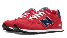 New Balance 574 Pique Polo Pack: Red/Navy