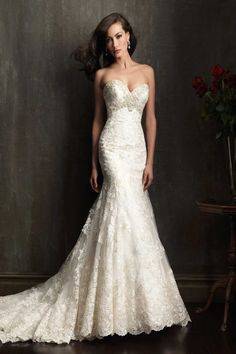 Allure Bridals- My favorite style. Fits perfectly to my body, youthful,classic,detailed and breathtaking .
