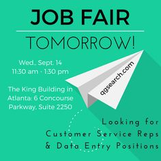 We want to meet you tomorrow & get you hired!