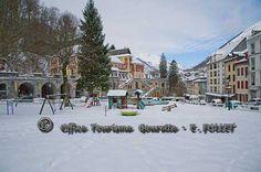 Les Eaux-Bonnes sous la neige.