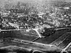 Przedwojenne lotnicze zdjęcie fragmentu Dolnego Miasta