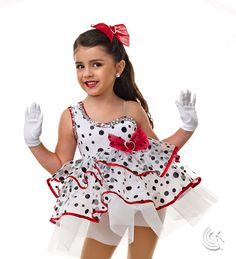 Curtain Call Costumes® - Sweet Darling Kids or baby tap dance costume Also makes a great dalmatian!