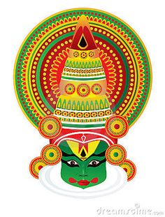 kathakali females illustration - Google Search
