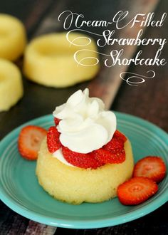 Cream Filled Strawberry Shortcakes