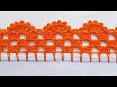 Crochet Boarders, Crochet Edging Patterns, Crochet Lace Edging, Crochet Diagram, Crochet Granny, Baby Knitting Patterns, Crochet Designs, Stitch Patterns, Basic Embroidery Stitches