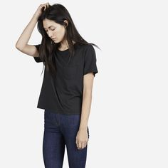 The Cotton Box-Cut Pocket Tee | Everlane